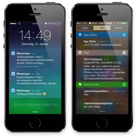 Jailbreak iOS Enhance Notification Center