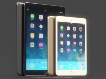 Gold iPad Mini and iPad 5 with Touch ID